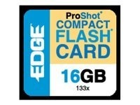 Edge 16GB High Capacity CompactFlash Memory Card, 133X, PE222031, 10168544, Memory - Flash