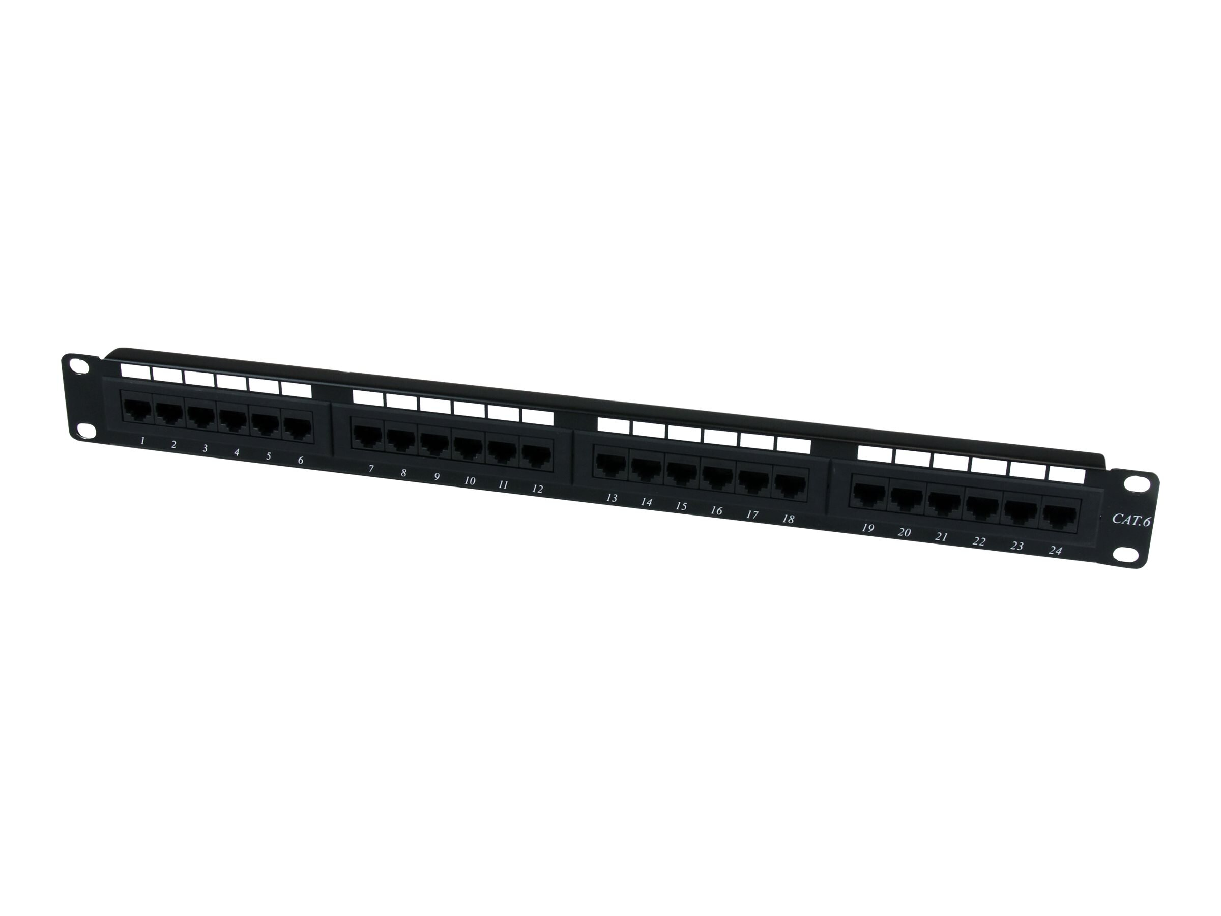 StarTech.com 24 Port 1U Rackmount Cat 6 110 Patch Panel, C6PANEL24
