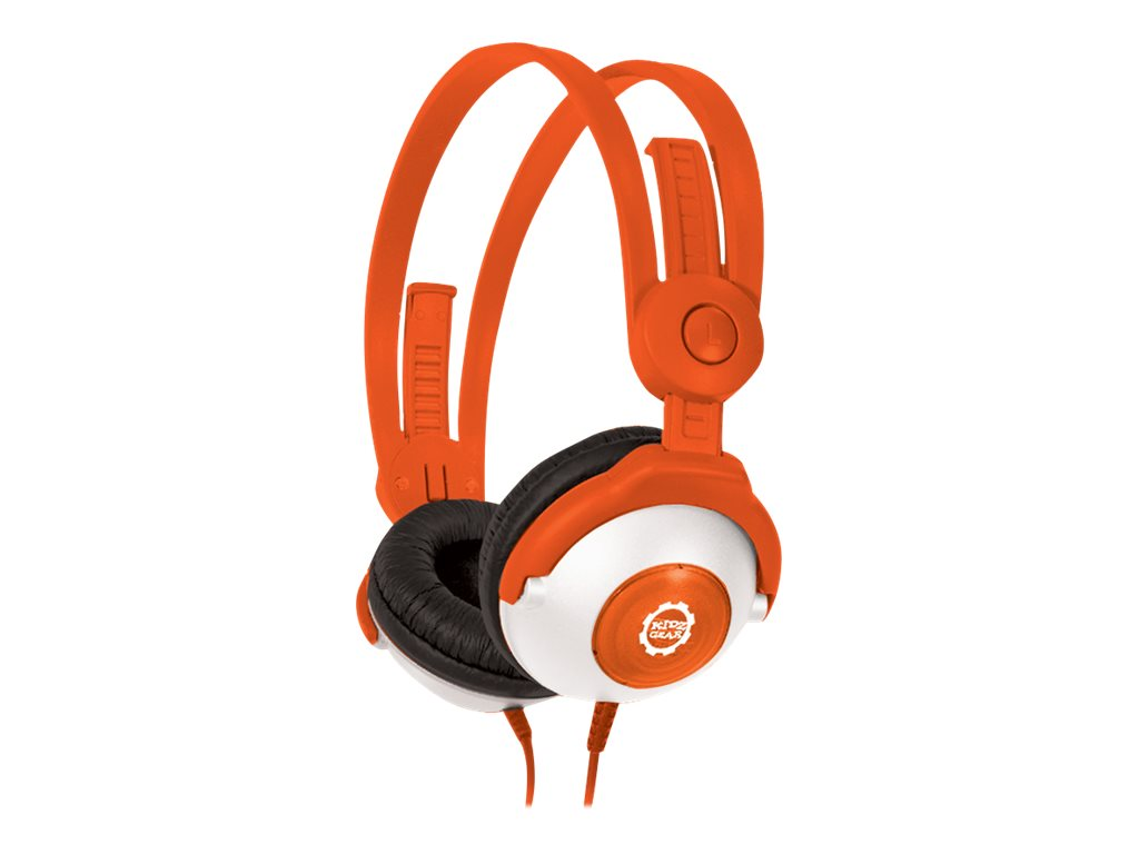 Kidz Gear Wired Headphones For Kids, Orange, CH68KG03