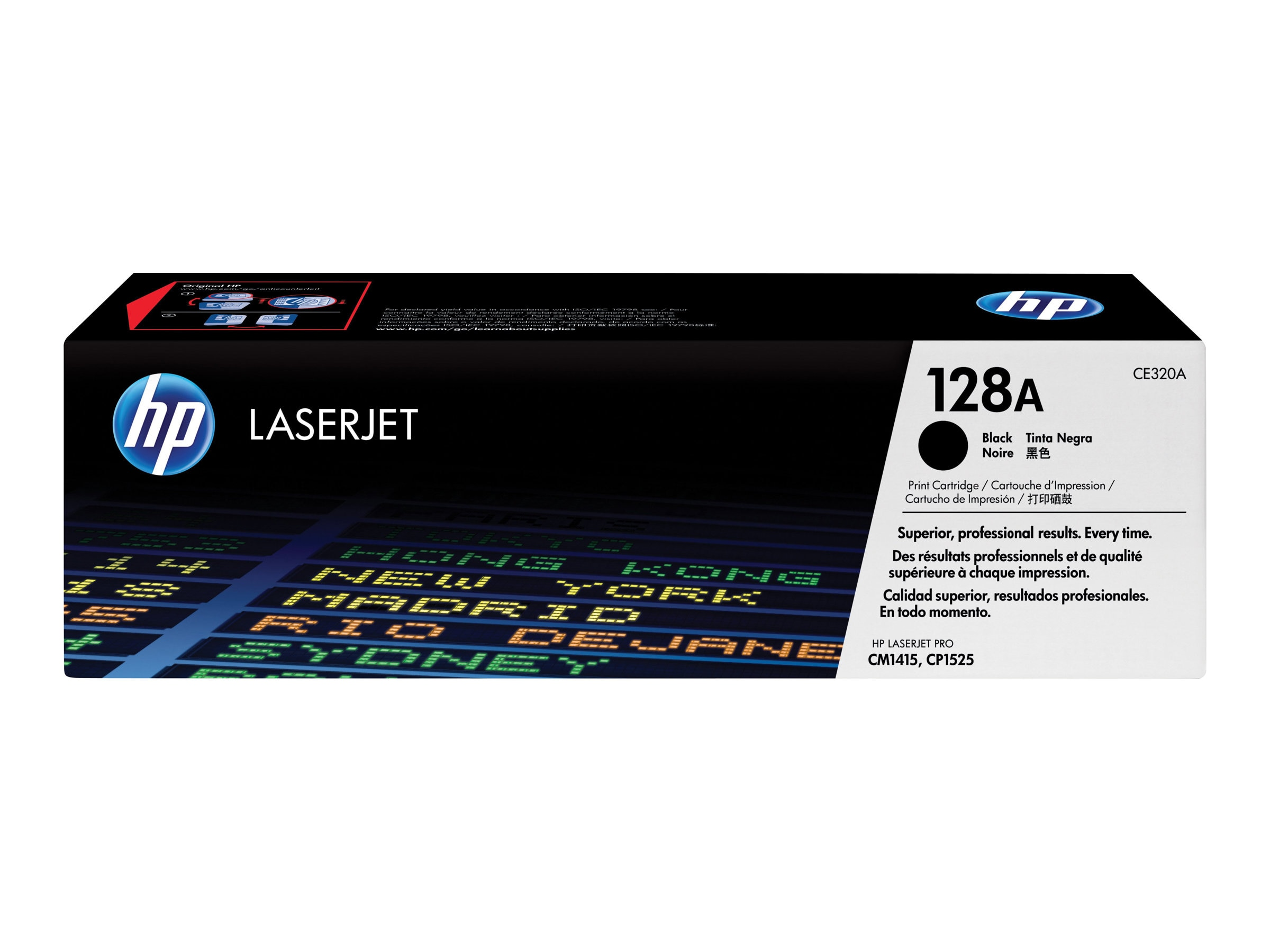 HP 128A (CE320A) Black Original LaserJet Toner Cartridge for HP LaserJet CM1415 & CP1525nw, CE320A, 11845455, Toner and Imaging Components