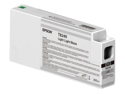 Epson Light Light Black Ultrachrome HDX 350ml Ink Cartridge for SureColor P6000, P7000, P8000 & P9000, T824900, 30741117, Ink Cartridges & Ink Refill Kits