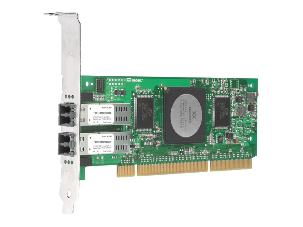 Qlogic SANblade 2-Port 4Gbps FC to PCI-X HBA, Low Profile, QLA2462-CK, 6321868, Host Bus Adapters (HBAs)