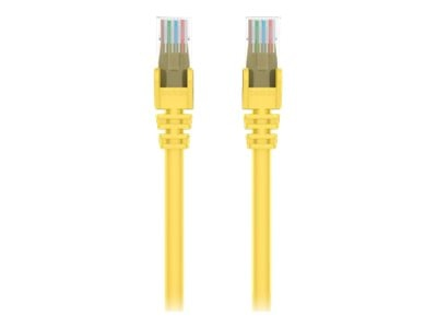 Belkin Cat6 UTP Patch Cable, Yellow, Snagless, 25ft, A3L980-25-YLW-S