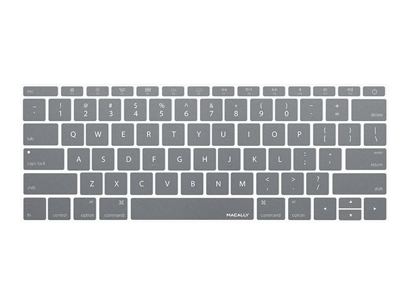 Macally Keyboard Cover, Gray, KBGUARDMBGY, 26135253, Protective & Dust Covers