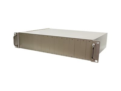 ACP-EP Unmanaged Rack-mountable Media Converter, 16-slot Chassis, ADD-RACK-16