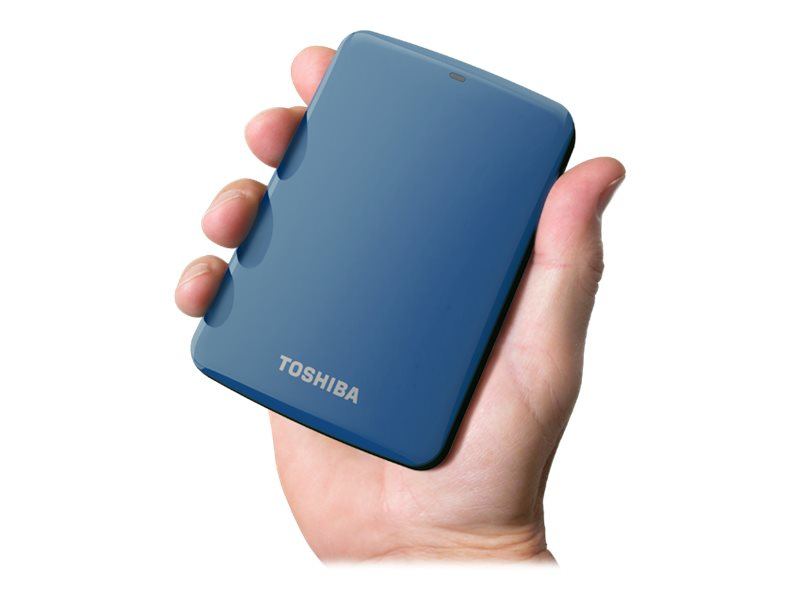 Toshiba 2TB Canvio Connect USB 3.0 Portable Hard Drive - Blue, HDTC720XL3C1, 15526515, Hard Drives - External