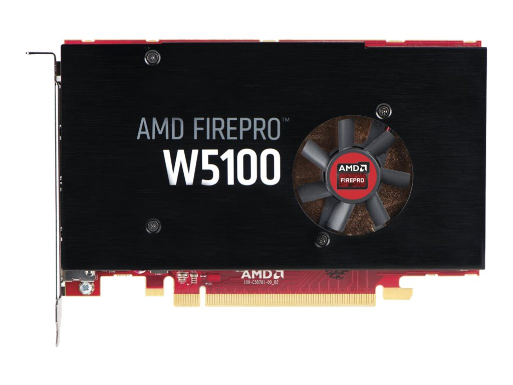 HP AMD FirePro W5100 PCIe 3.0 x16 Graphics Card, 4GB GDDR5, J3G92AA