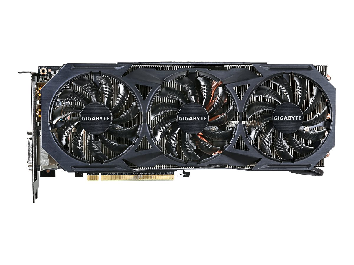 Gigabyte Tech Radeon R9 FURY PCIe 3.0 Overclocked Graphics Card, 4GB HBM, GV-R9FURYWF3OC-4GD, 30954171, Graphics/Video Accelerators