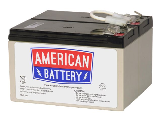 American Battery Replacement Battery Cartridge APCRBC109 for APC BN1250, BR1200, BR1500 models