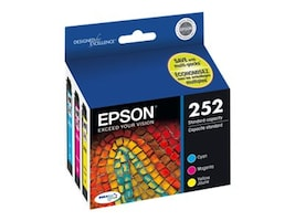 Epson 252 DuraBrite Ultra Color Cartridge Combo Pack, T252520, 17381831, Ink Cartridges & Ink Refill Kits