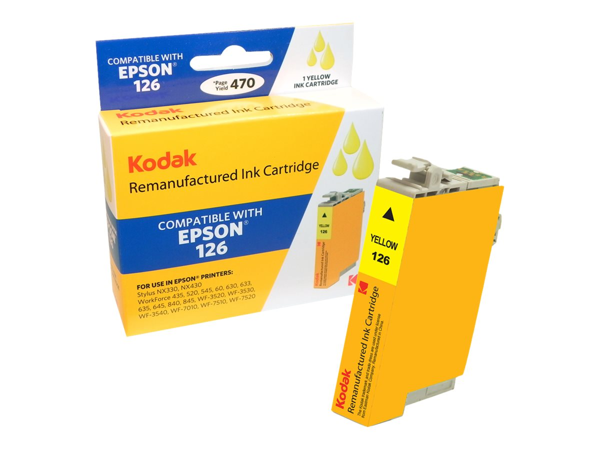 Kodak T126420 Yellow Ink Cartridge for Epson Stylus NX330 430, T126420-KD, 31286881, Ink Cartridges & Ink Refill Kits