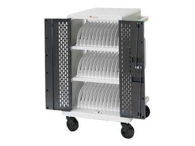 Bretford Manufacturing 36 Unit Tablet Cart with Locking Access Doors, Swivel Casters
