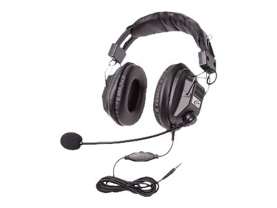 Califone Headset w  Boom Mic, Volume Control & 3.5mm Plug via ErgoGuys, 3068MT, 31669137, Headsets (w/ microphone)