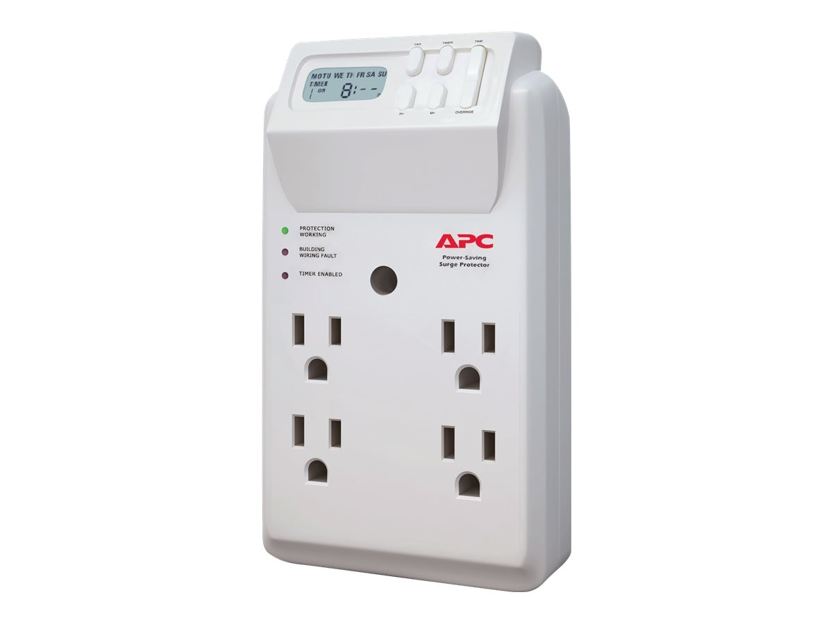 APC Essential SurgeArrest 120V, Wall Tap, (4) Outlets, Power-Saving, P4GC, 11162232, Surge Suppressors