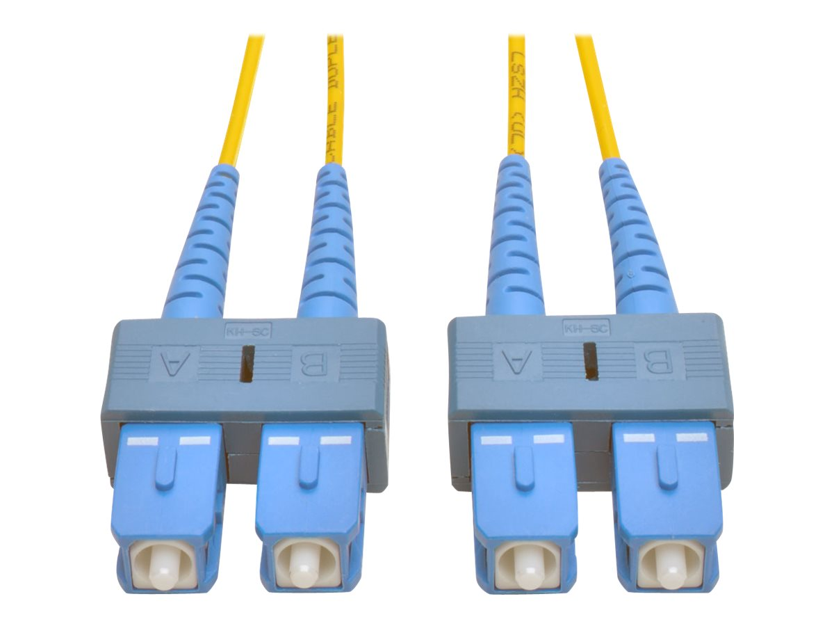Tripp Lite SC-SC 8.3 125 Fiber Patch Cable, Yellow, 15m