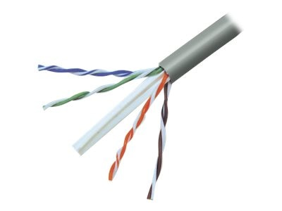 Belkin Cat6 UTP Gigabit Bulk Solid Gray Cable, Plenum, 1000ft, A7L704-1000-P, 207763, Cables