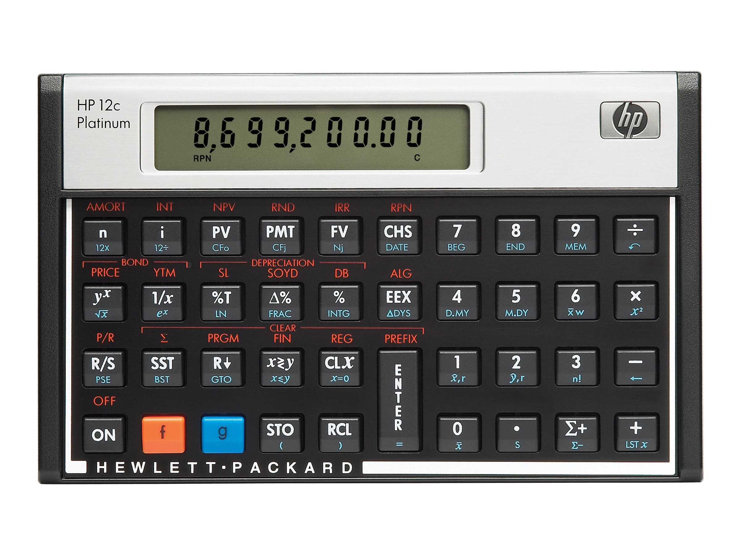 HP HP 12C Platinum Financial Calculator, F2231AA#ABA
