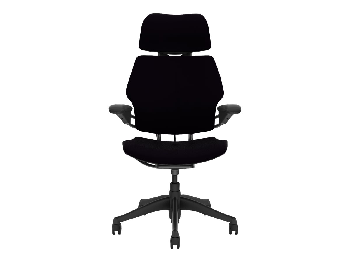 Humanscale Freedom Task Chair with Headrest, Vellum Black, F211GV101-GF