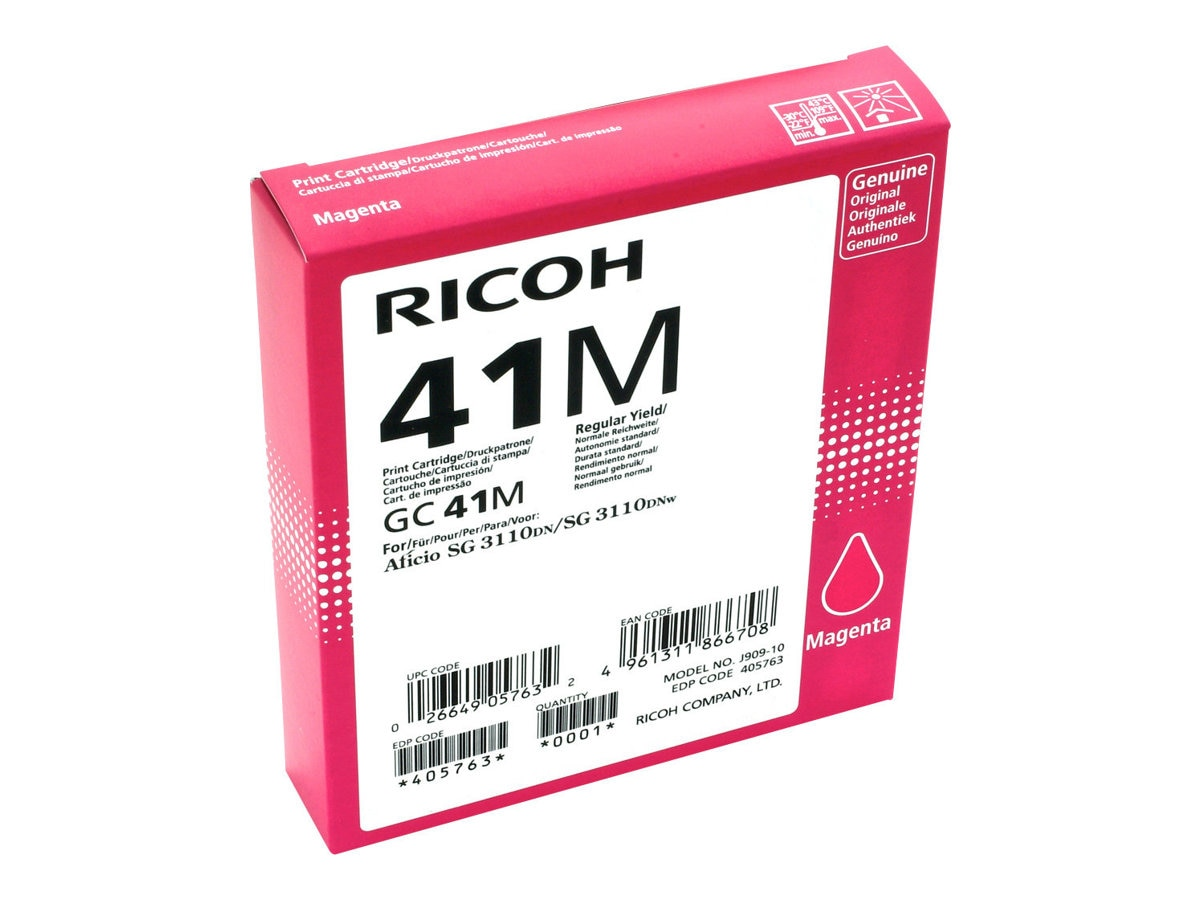 Ricoh Magenta GC41M Print Cartridge, 405763