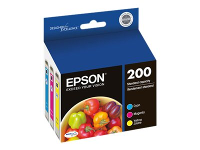 Epson Color #200 DURABrite Ultra Ink Cartridges (Multi-pack), T200520, 14896979, Ink Cartridges & Ink Refill Kits