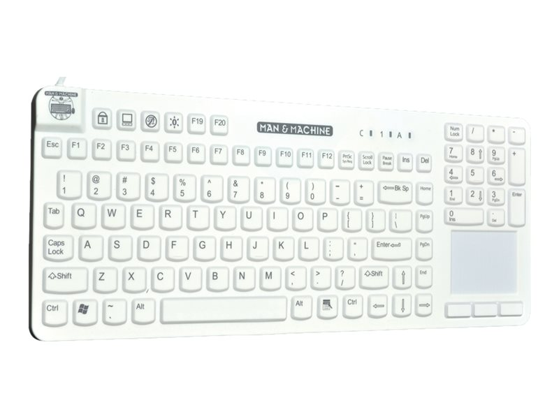 Man & Machine Reallycool Touch Magfix Keyboard, White, RCTLP/MAG/W5-LT