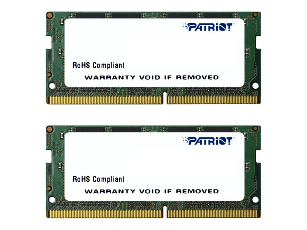 Patriot Memory 32GB PC4-17000 260-pin DDR4 SDRAM SODIMM Kit, PSD432G2133SK