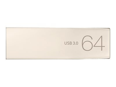 Samsung 64GB USB 3.0 Metal Flash Drive, MUF-64BA/AM, 30823948, Flash Drives