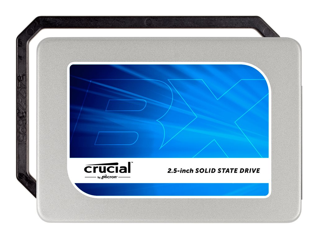 Crucial 240GB BX200 2.5 7mm Internal Solid State Drive w  7mm to 9.5mm Spacer & Data Migration Software Key