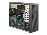 Supermicro Chassis, SuperChassis 732i Tower E-ATX (2x)Intel AMD Family 4x3.5 Bays 2x5.25 Bays 500W RPS, Black