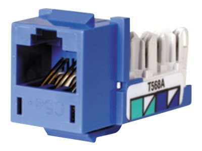 Hubbell SPEEDGAIN Xcelerator Category 5E Jacks, Blue, single, HXJ5EB, 338031, Premise Wiring Equipment