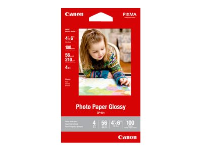 Canon 4 x 6 Glossy Photo Paper 601 (100-Sheets)
