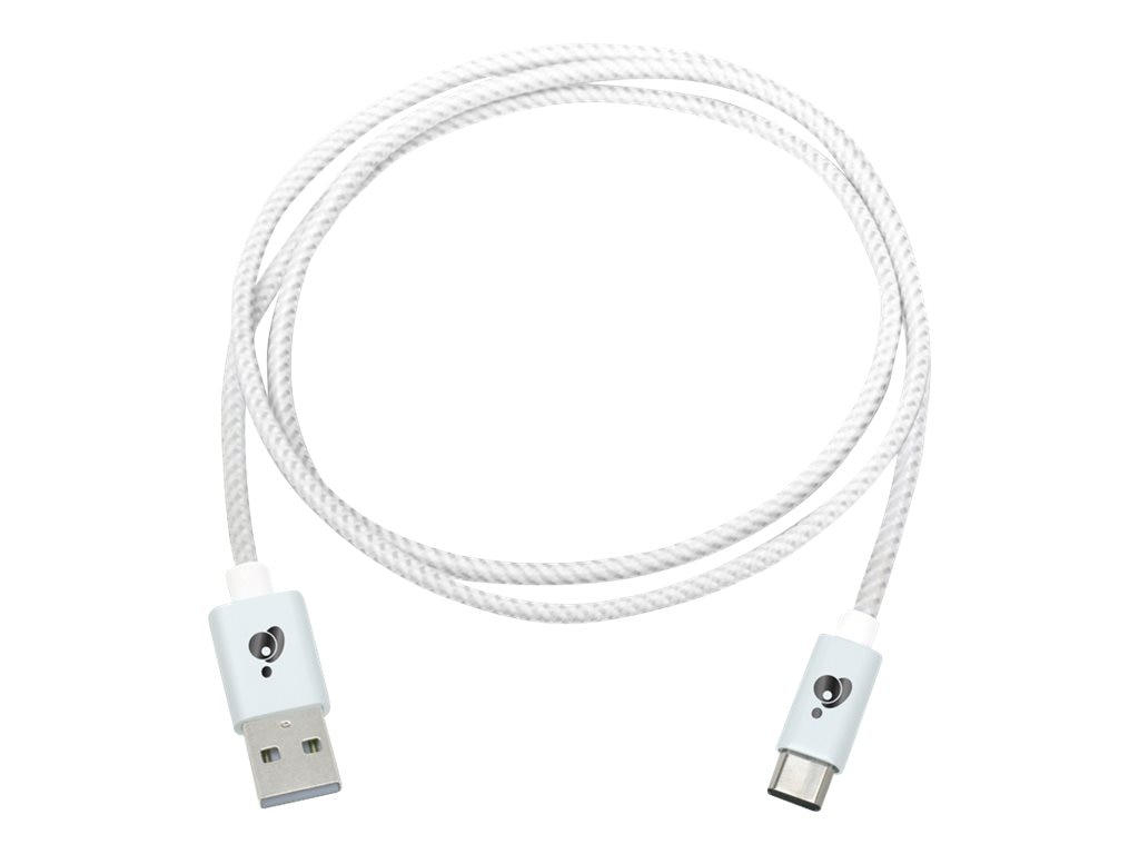 IOGEAR USB Type C to USB Type A Charge and Sync Flip Pro Cable, White, 1m
