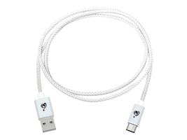 IOGEAR USB Type C to USB Type A Charge and Sync Flip Pro Cable, White, 1m, G2LU3CAM01WT, 28989252, Cables