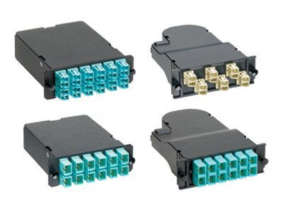 Panduit LC to MTP 50 125 OM3 Multimode 12-Fiber Duplex Adapter, FCX-24-10Y, 30697953, Adapters & Port Converters