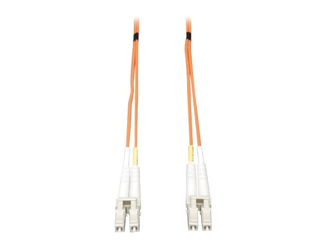 Tripp Lite Fiber Patch Cable, LC-LC, 50 125, Duplex, MM, Orange, 115ft