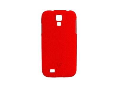 V7 Metro Anti-slip Phone Case for Samsung S4 Sand Finish PC Cover Red, PD19RED-14N