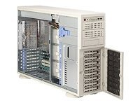 Supermicro Chassis, 4U Tower, 11 Bays, SAS SATA Hot Plug, 700W PS, Beige, CSE-745TQ-700, 6929793, Cases - Systems/Servers