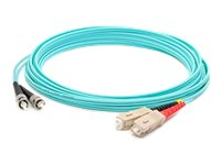 ACP-EP ST-SC OM3 Multimode LOMM Fiber Patch Cable, Aqua, 8m