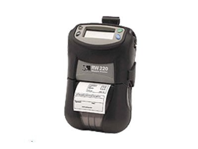 Zebra RW220 4MB 8MB BT Standard Media LCD Printer w  Belt Clip, R2D-0UBA000N-00