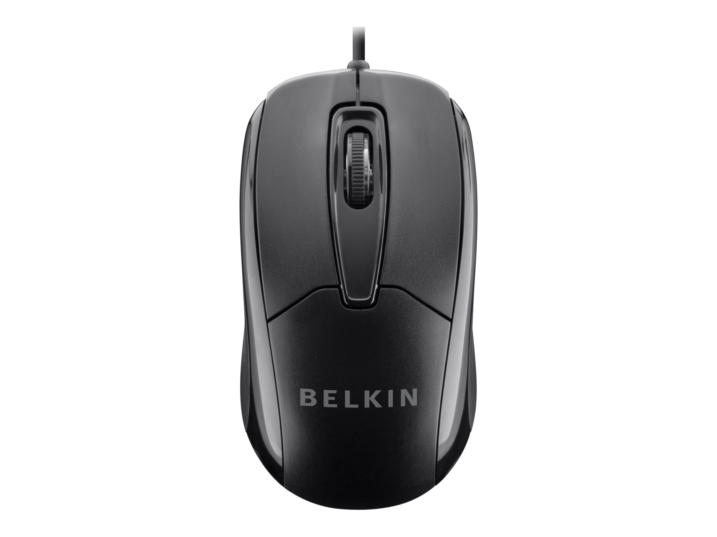 Belkin Wired Mouse Ergonomic USB PNP Black, F5M010QBLK
