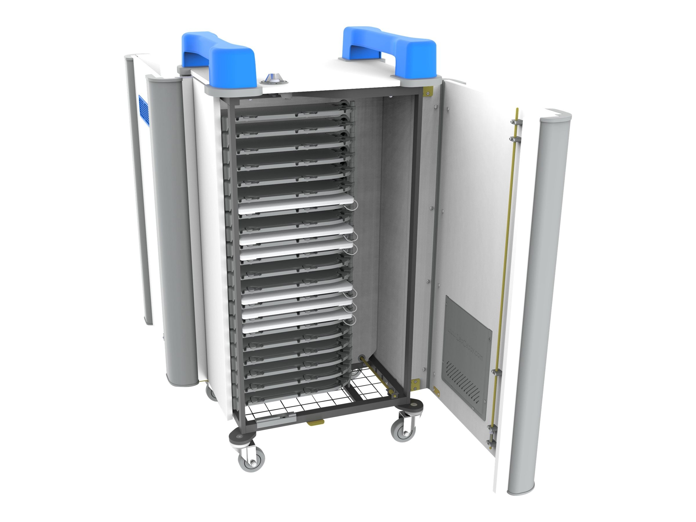 LapCabby 20h 20-Unit Universal Device Cart, Blue