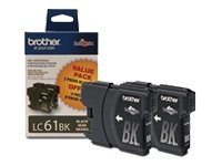 Brother Black LC61 Ink Cartridges for MFC-6490CW (2-pack), LC612PKS, 8688882, Ink Cartridges & Ink Refill Kits