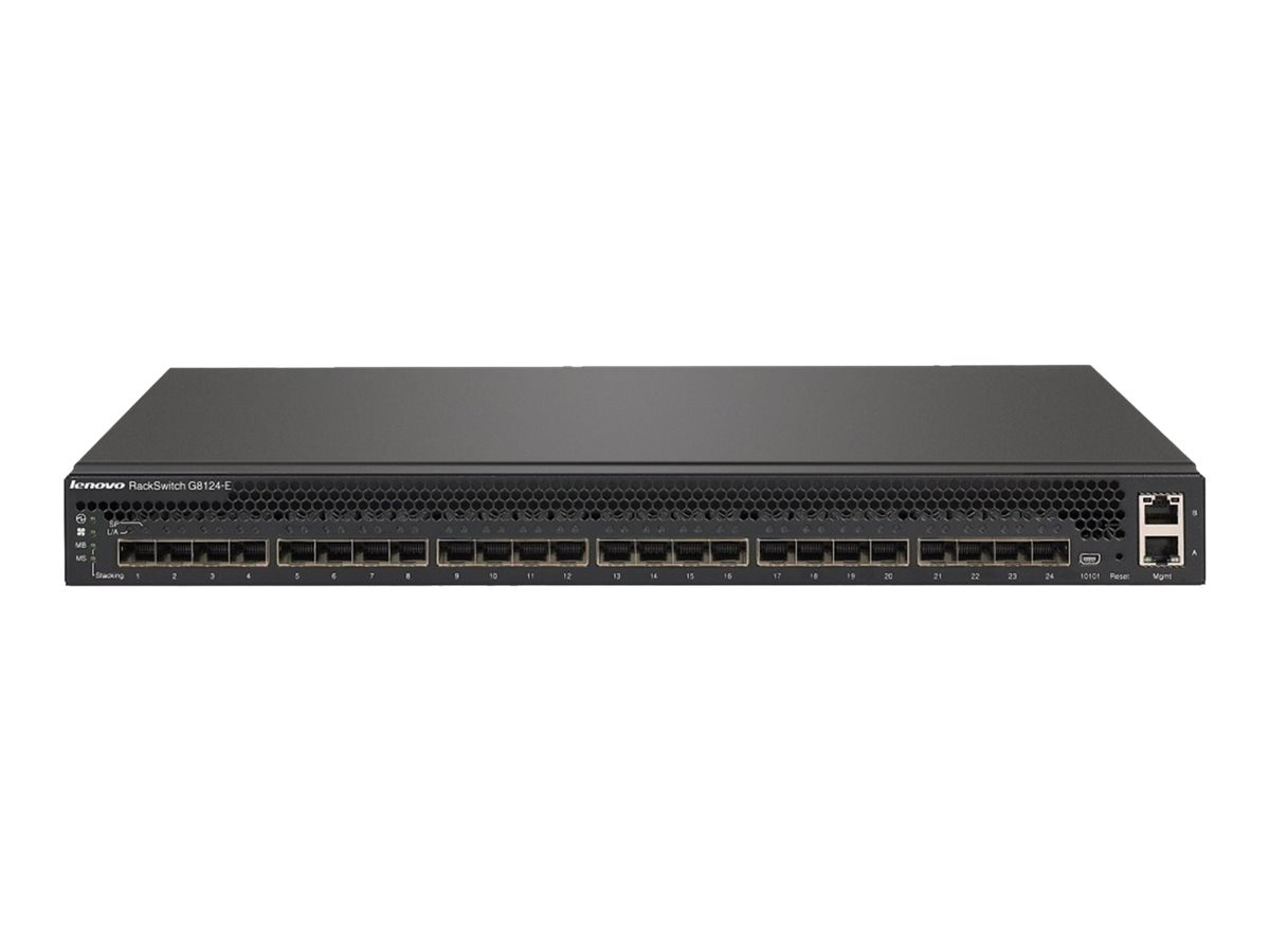 Lenovo Lenovo Rackswitch G8124E (Rear To Front), 7159BR6