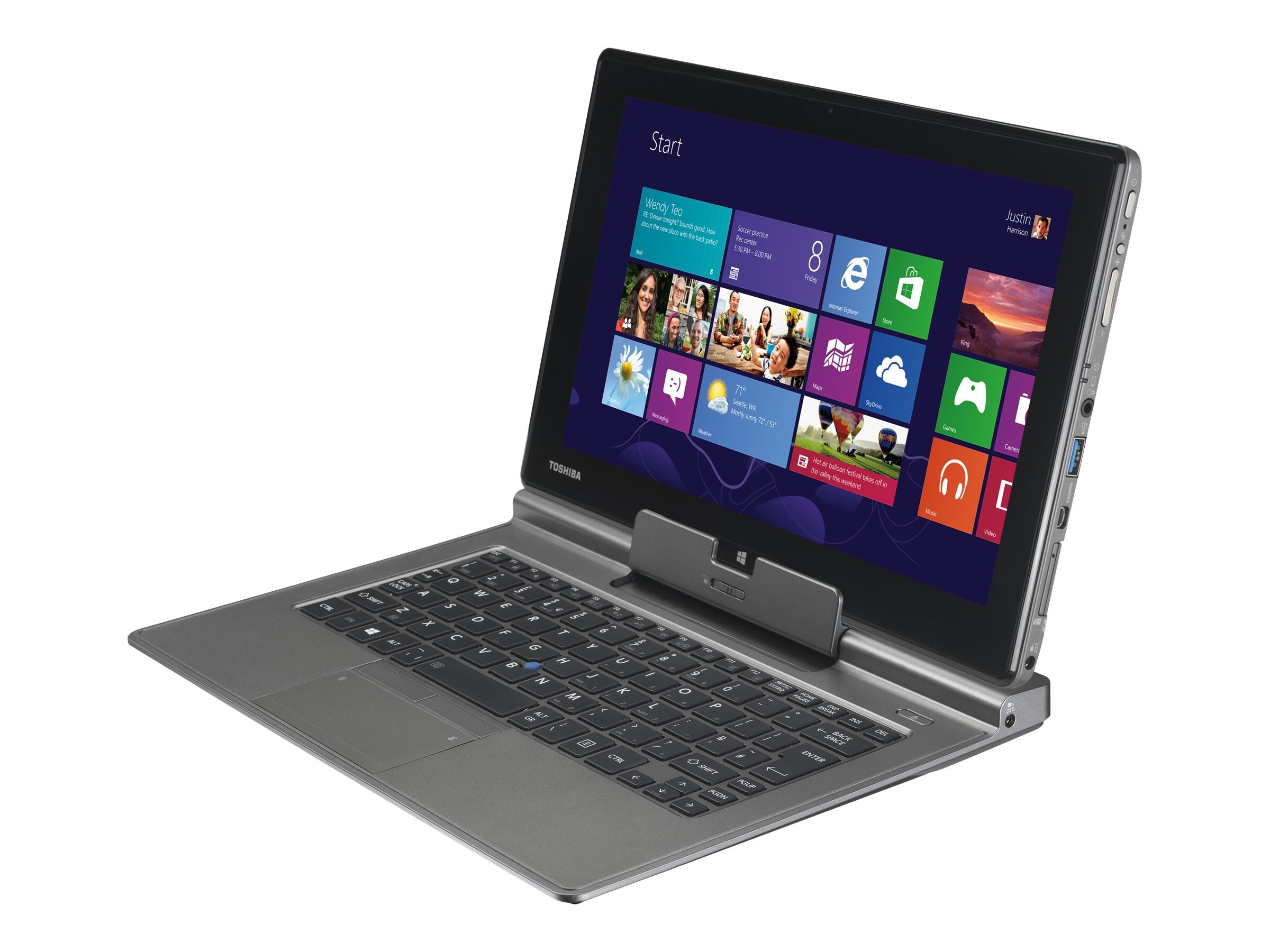 Toshiba Portege Z10T-A1110 Core i5-3439Y 1.5GHz 4GB 128GB SSD agn BT 2xWC 6C 11.6 FHD Touch WiDi W8P, PT132U-00600S, 15787854, Notebooks - Convertible