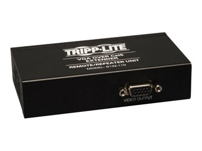 Tripp Lite VGA over Cat5 Cat6 Extender, Remote Repeater, 1920x1440 at 60Hz, B132-110