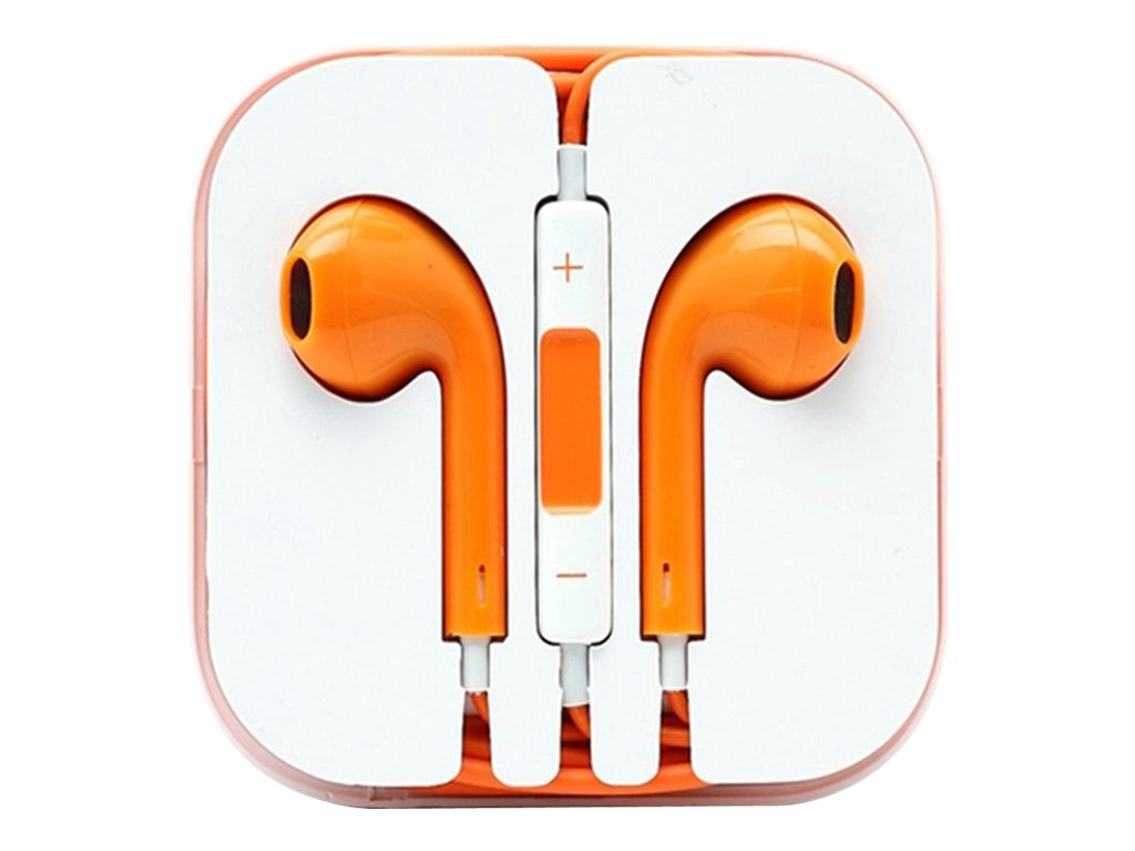 4Xem Apple Earpod Ear Phones - Orange for iPod & iPhone 5 (4-pack), 4XAPPLEARPODOR, 31191743, Headphones