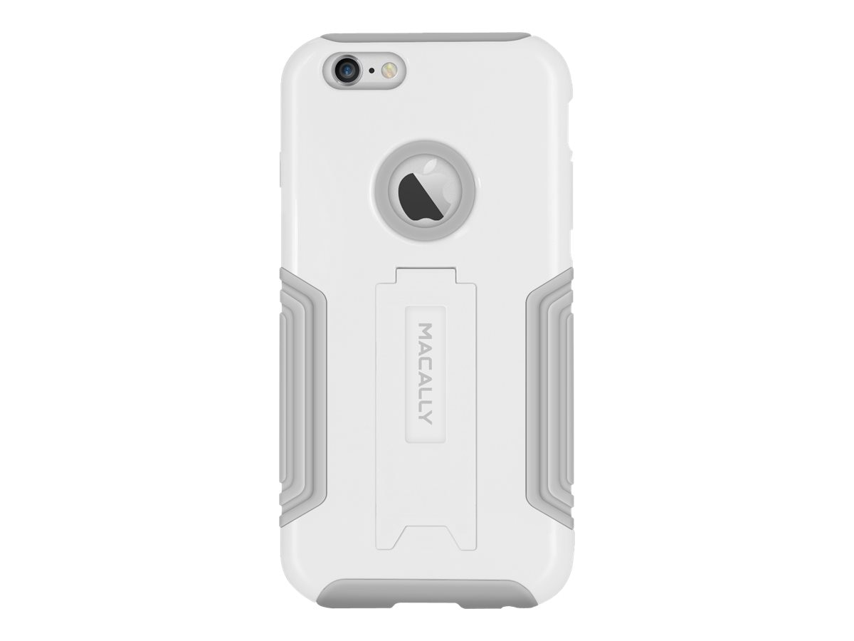 Macally Hard Case and Stand for iPhone 6 Plus, White, KStandP6LW, 17923493, Carrying Cases - Phones/PDAs