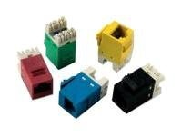 Tyco CAT6 SL Series Jack - Yellow, 1375187-8, 16594755, Premise Wiring Equipment
