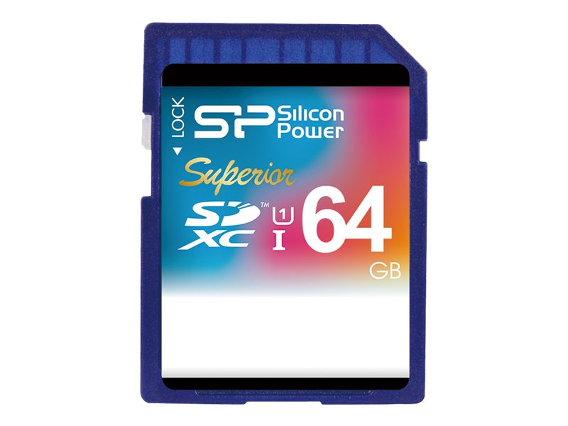 Silicon Power 64GB Silicon Power Superior SDXC Class 10 UHS-1 Memory Card