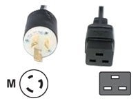 Eaton Power Cable, IEC 320 C19 (F) to L6-15P (M), Black, 8ft, 010-9340, 9344361, Power Cords